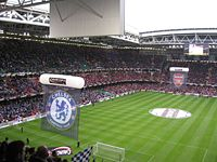 Pre-match presentation at the 2007 final between Chelsea and Arsenal at the Millennium Stadium in Cardiff