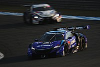 The Honda NSX-GT that Button and Naoki Yamamoto drove to win the 2018 Super GT title.