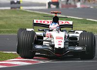 Button at the 2005 Canadian Grand Prix, where he took pole position.