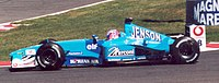 Button at the 2001 French Grand Prix driving for Benetton.