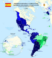 Spanish and Portuguese empires in 1790.