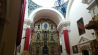 18th century golden altar piece insede the Tegucigalpa cathedral.