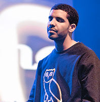 Drake during a performance in Toronto in 2011