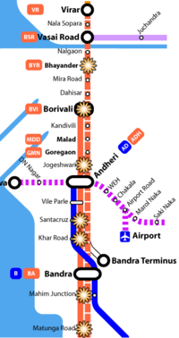 Map showing the 'Western line' and blast locations.