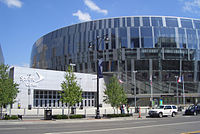 The Sprint Center lies within the Power and Light District.