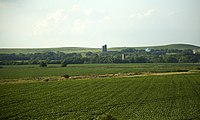 Farmland and the Great Plains in central Kansas