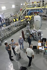 Group of Kazakhstan physicists in collaboration with Uzbek researchers working at the ion accelerator DC-60