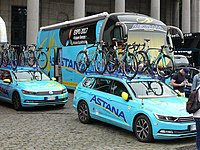 Astana Pro Team is professional cycling team representing Kazakhstan and sponsored by the state-owned companies from Kazakhstan