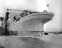 The launch of Olympic on 20 October 1910