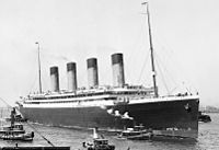 Olympic arriving at New York on her maiden voyage on 21 June 1911