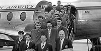 The Busby Babes in Denmark in 1955