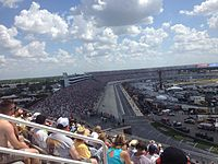 Martin Truex Jr. leads the FedEx 400 at Dover International Speedway in May