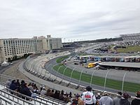 Kyle Busch leads the AAA 400 at Dover International Speedway in October