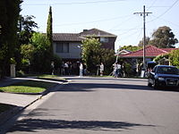 """Pin Oak Court in Vermont South has been called """"Australia's most famous street"""", as it is the filming location used to represent the fictional Ramsay Street in Neighbours, Australia's longest running drama television series."""