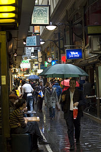 Known for its bars, street art and coffee culture, the inner city's network of laneways and arcades is a popular cultural attraction.