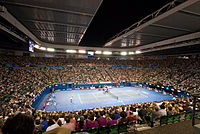 Melbourne hosts the Australian Open, the first of four annual Grand Slam tennis tournaments.