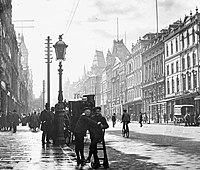 """Collins Street lined with buildings from the """"Marvellous Melbourne"""" era"""