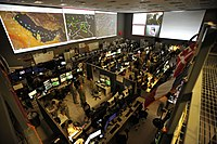 The US Combined Air and Space Operations Center (CAOC) at Al Udeid Air Base provides command and control of air power throughout Iraq, Syria, Afghanistan, and 17 other nations.