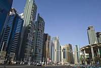 Commercial district in Doha.