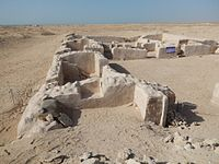 A partially restored section of the ruined town of Zubarah.