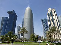High-rise buildings in Doha.