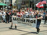 Start of the leather contingent at the 2004 San Francisco gay pride parade