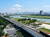 A highway section in Taipei, Taiwan.