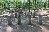 The site of Henry David Thoreau's cabin at Walden Pond in Concord