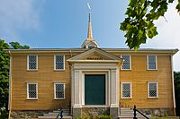 Built in 1681, the Old Ship Church in Hingham is the oldest church in America in continuous ecclesiastical use. Massachusetts has since become one of the most irreligious states in the U.S.