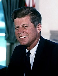 John F. Kennedy, Massachusetts native and 35th President of the United States (1961–1963)