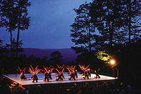 An outdoor dance performance at Jacob's Pillow in Becket