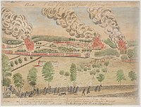 """""""Percey's Rescue at Lexington"""", an illustration of the Battles of Lexington and Concord"""