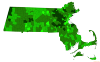 Towns in Massachusetts by combined mean SAT of their public high school district for the 2015–2016 academic year