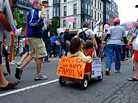 Boston gay pride march, held annually in June. Massachusetts became the first U.S. state to legalize same-sex marriage in 2004.