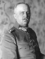"""Adolf Hitler claimed that the """"big lie"""" spread by the Jews was the idea that General Ludendorff (pictured) was responsible for Germany's loss in WWI."""