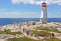 Peggys Point Lighthouse in Peggys Cove is a tourist attraction in the province.