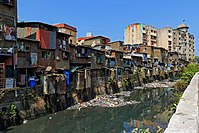 """Dharavi is a slum in Mumbai, containing a large proportion of leather workers, which include Dalits, formerly """"Untouchables,"""" comprising 20% of the residents, and Muslims comprising 33%."""