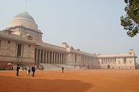 The official home of the President of India, the Rashtrapati Bhavan, was designed between 1911 and 1931 by British architects, Edwin Lutyens and Herbert Baker for the Viceroy of India during the British Raj.