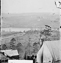Photograph showing the aftermath of the Siege of Knoxville, December 1863