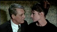 Cary Grant and Audrey Hepburn in Charade, Donen's most financially successful film
