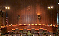 Committee Room 226 in the Dirksen Senate Office Building is used for hearings by the Senate Judiciary Committee.