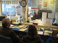A view of WKMS Studio A during the 2008 Autumn Fund Drive.