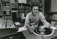 Former Program Director Mark Welch in 1981, hosting a classical music show called Masterwork's Showcase.