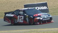Brad Keselowski in the No. 12 during the 2010 Toyota/Save Mart 350.