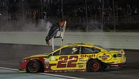 Joey Logano won the 2018 Monster Energy NASCAR Cup Series Championship.