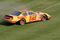 The No. 12 Nationwide Series car driven by Sam Hornish Jr. spinning out in 2007.