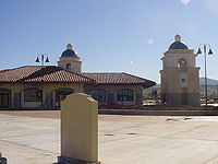 The Palmdale Transportation Center serves at the regional transit hub for the Antelope Valley.
