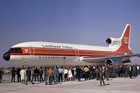 A completed Lockheed L-1011; this aircraft was built and underwent testing at Palmdale
