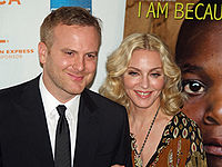 Madonna and Nathan Rissman at the premiere of I Am Because We Are at the 2008 Tribeca Film Festival