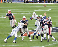 Gronkowski (#87) in a 2011 game against the Indianapolis Colts